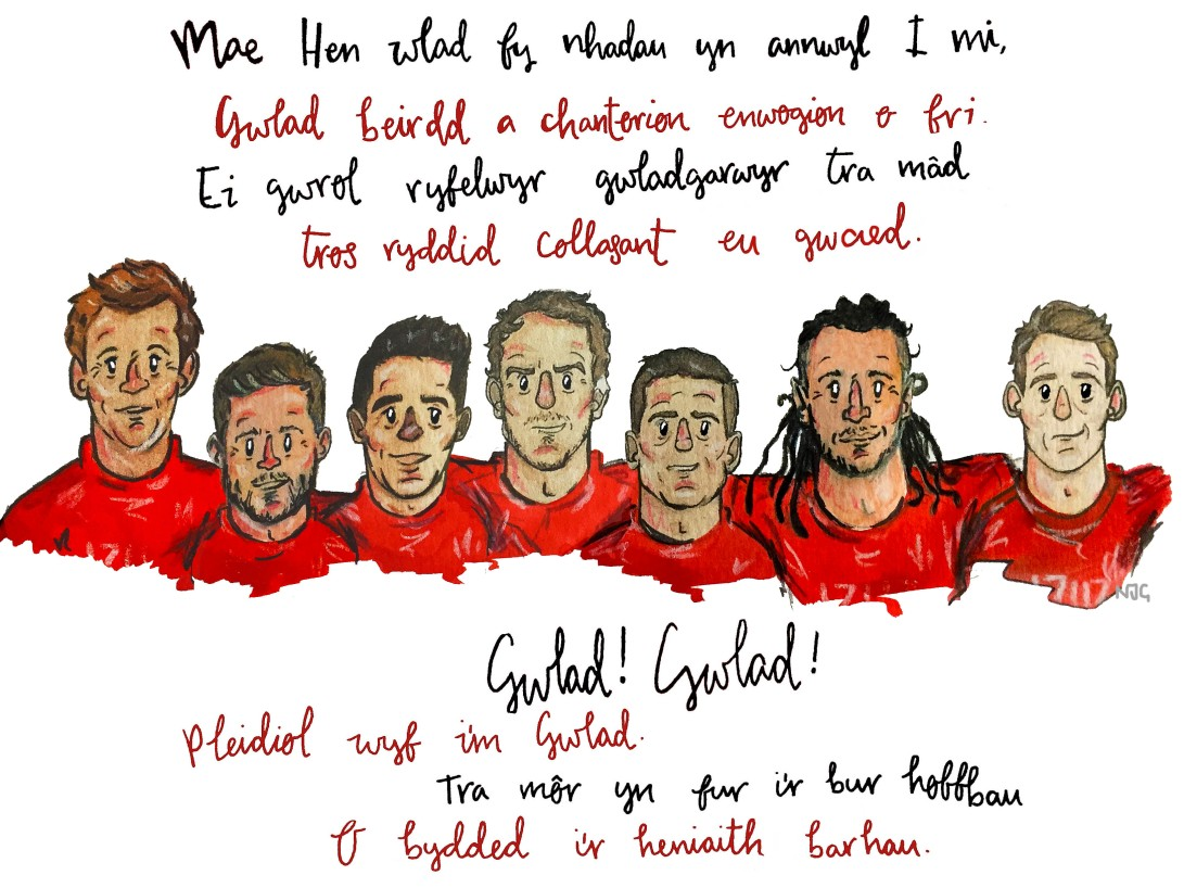 Welsh anthem print - Natalie Griffiths
